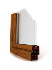 okno ideal 4000 złoty dąb