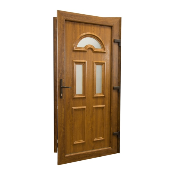 drzwi wejsciowe d06 zloty dab otwarte