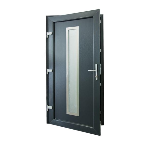 drzwi wejsciowe d13 antracyt otwarte