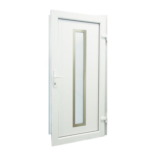 drzwi wejsciowe d13 biale otwarte