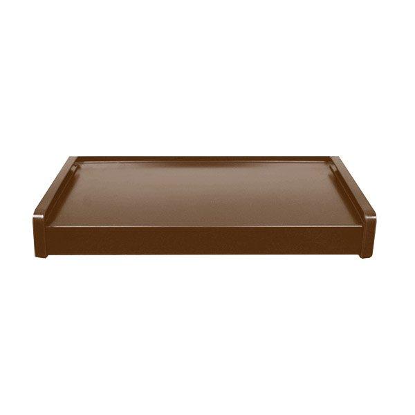 parapet stalowy zewnętrzny - brązowy