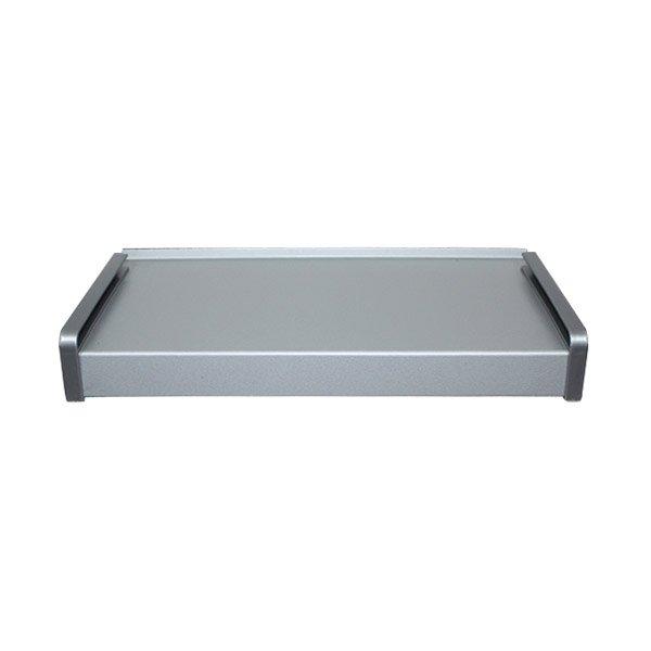 parapet zewnętrzny stalowy srebrny