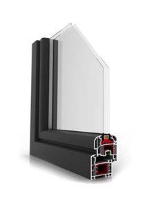 Okno Ideal 400 antracyt