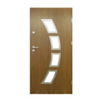drzwi stalowe 55 mm MALAGA 01 INOX S1