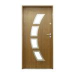 drzwi stalowe 55 mm MALAGA 01 INOX S2