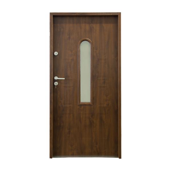 drzwi stalowe 55 mm WALENCJA 01 SZKLONE S2